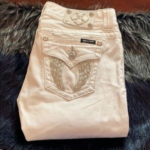Angel Wing MISS ME Skinny Jeans WHITE 29W x31.5L